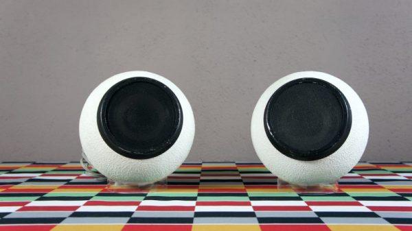 Paire de Haut-Parleurs Design Vintage Rétro 1970