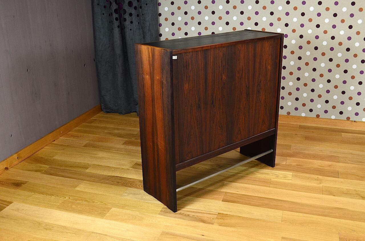 bar danois en palissandre de rio poul heltborg vintage 1968. Black Bedroom Furniture Sets. Home Design Ideas