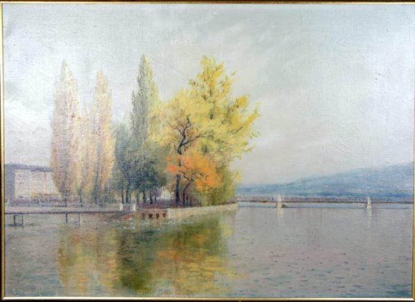 Huile sur Toile d'Eugène Devaud De Madelin