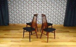 4 Chaises Danoise en Palissandre de Rio Koefoeds Vintage 1965