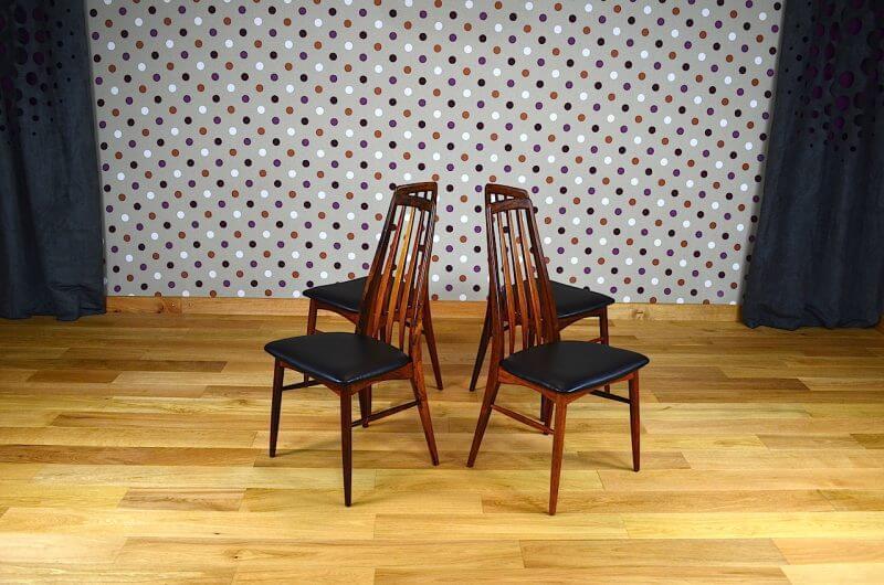4 chaises danoise en palissandre de rio koefoeds vintage 1965 vendu. Black Bedroom Furniture Sets. Home Design Ideas
