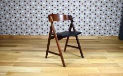 Fauteuil / Chaise de Bureau Scandinave en Teck H. Kjaernulf Vintage 1962