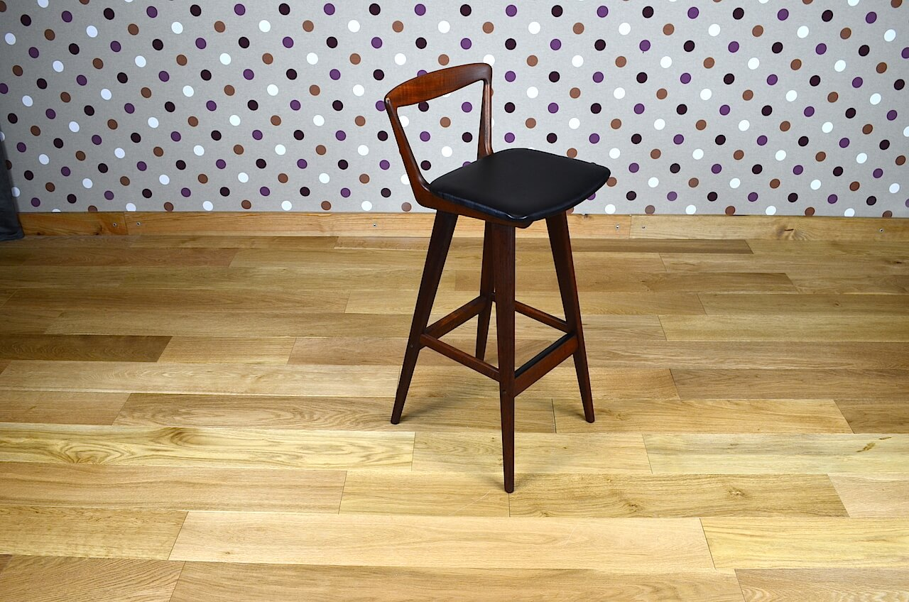 tabouret de bar design scandinave h r hansen vintage 1960. Black Bedroom Furniture Sets. Home Design Ideas