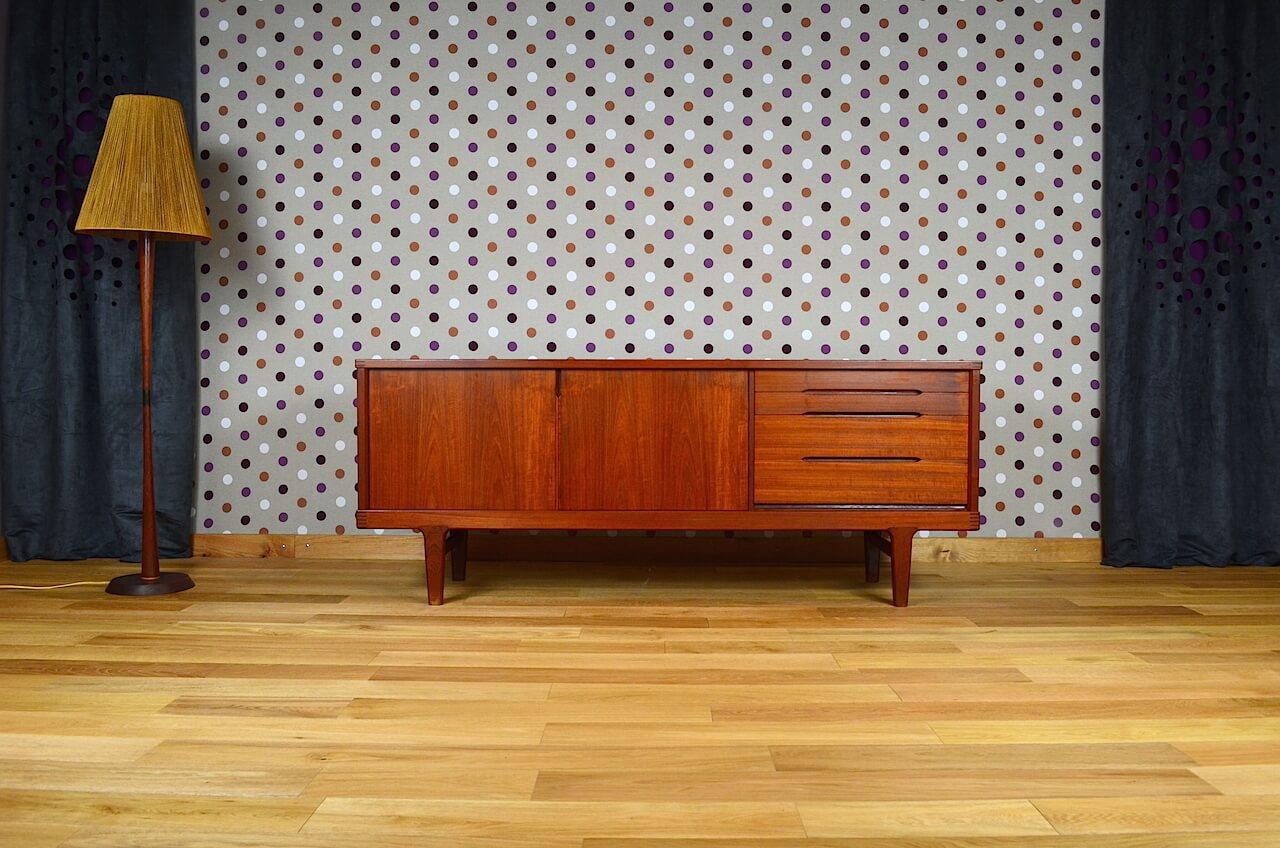 enfilade scandinave en teck de h kjaernulf vintage 1965. Black Bedroom Furniture Sets. Home Design Ideas