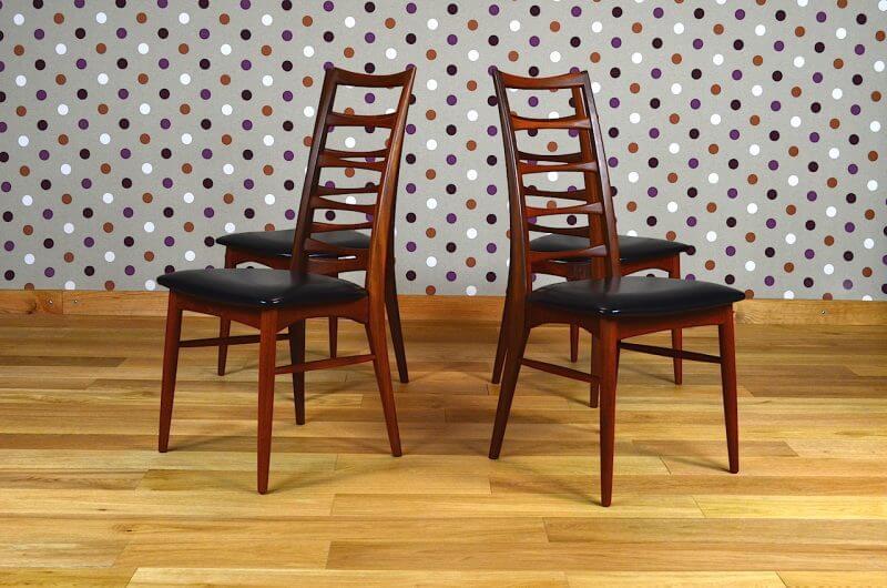 4 Chaises Danoise Liz En Teck 1965 Par Niels Koefoeds Vendu Design Vintage Avenue