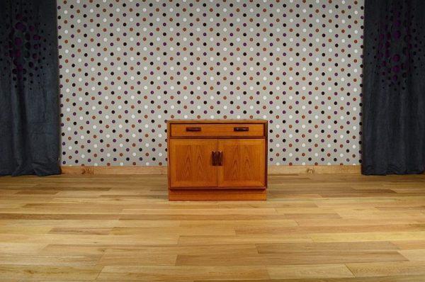 Meuble Bas Design Scandinave en Teck Vintage 1960
