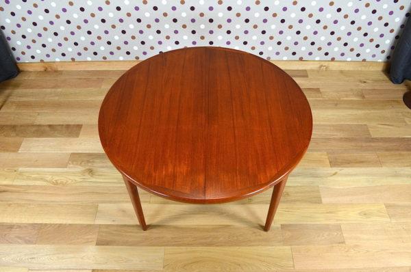 Table Ronde Design Scandinave en Teck V.V.Mobler Vintage 1968