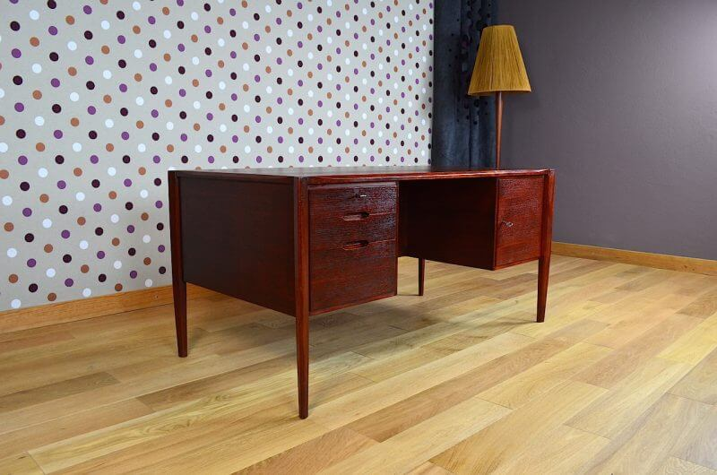 Bureau design scandinave wilhelm renz vintage 1960 for Meuble bureau 1960