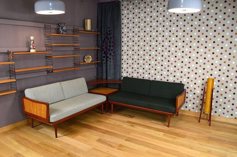 daybed d angle table basse de peter hvidt design danois. Black Bedroom Furniture Sets. Home Design Ideas
