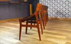 6 Chaises Design Scandinave en Teck Vestervig Eriksen Vintage 1960
