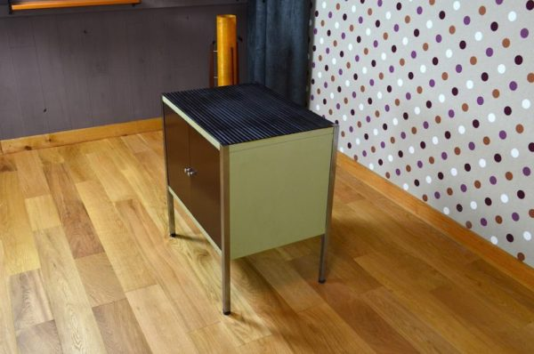 meuble bas design industriel vintage 1960