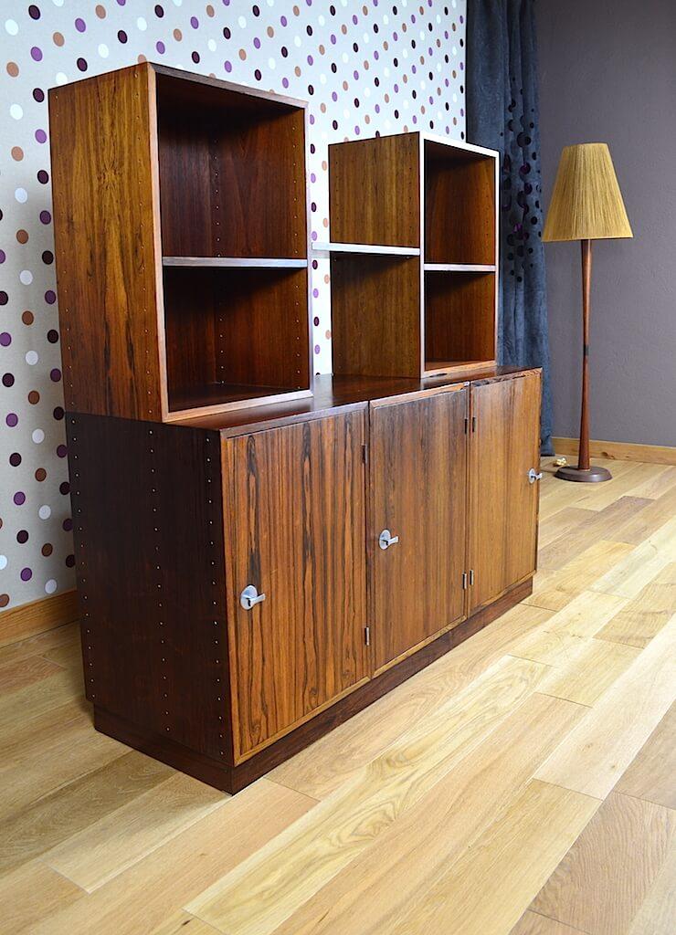 meuble danois finn juhl en palissandre de rio france son vintage 1966. Black Bedroom Furniture Sets. Home Design Ideas