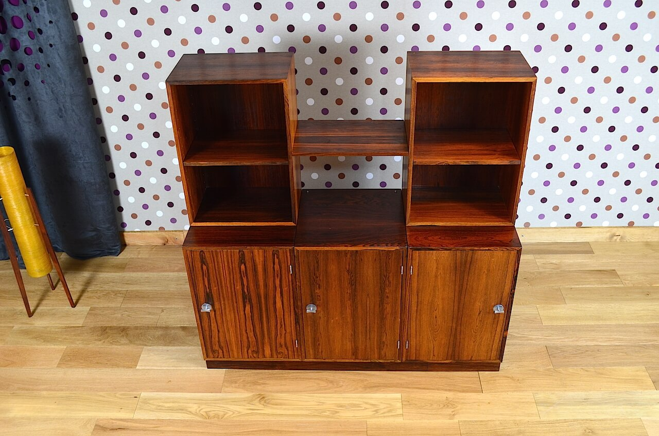 meuble danois finn juhl en palissandre de rio france son vintage 1966. Black Bedroom Furniture Sets. Home Design Ideas