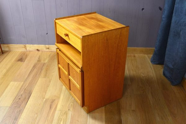 Meuble Design Scandinave en Teck Blond Vintage 1960