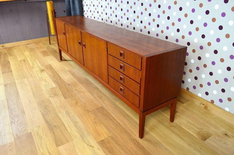 enfilade design scandinave en teck fristho vintage 1960. Black Bedroom Furniture Sets. Home Design Ideas