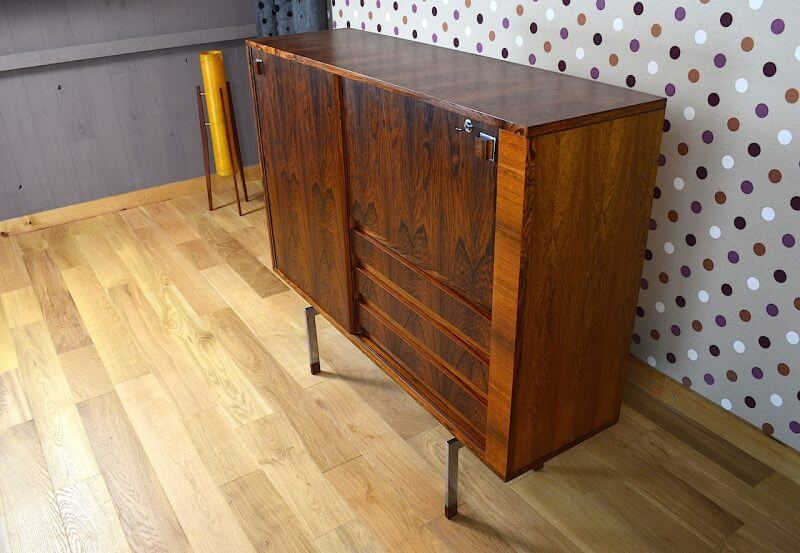 meuble en palissandre de rio de alfred hendrickx vintage 1955. Black Bedroom Furniture Sets. Home Design Ideas