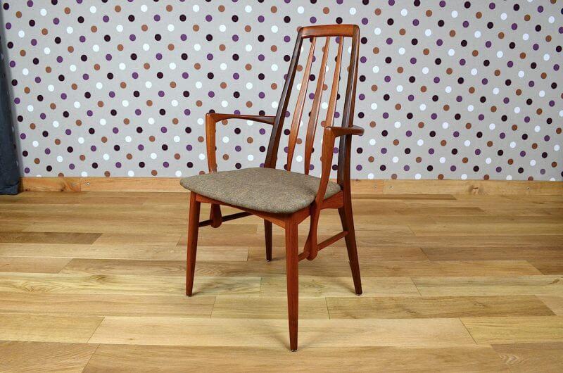 fauteuil danois en teck de niels koefoeds vintage 1964. Black Bedroom Furniture Sets. Home Design Ideas