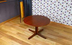 Table Basse Ronde Design Scandinave en Teck Vintage 1960