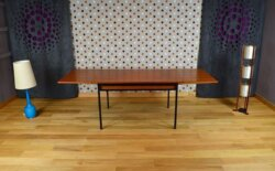 Table Moderniste en Teck René-Jean Caillette Vintage 1960