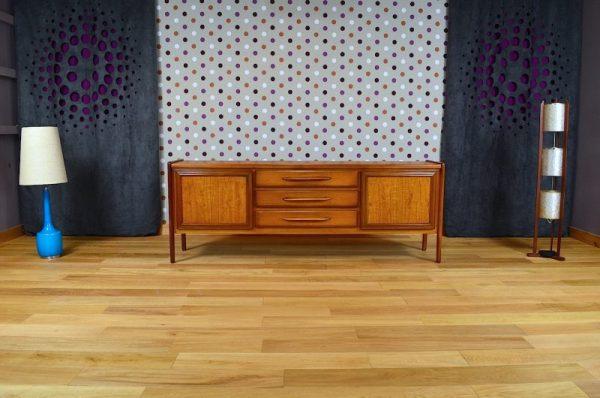 Enfilade Design Scandinave En Bois Blond Vintage 1968