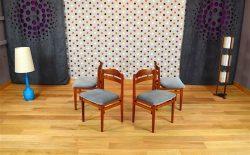 4 Chaises Scandinave en Teck Boltinge Stolefabrik Vintage 1965