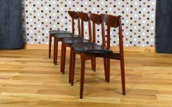4 Chaises Danoise en Teck Harry Ostergaard Vintage 1960