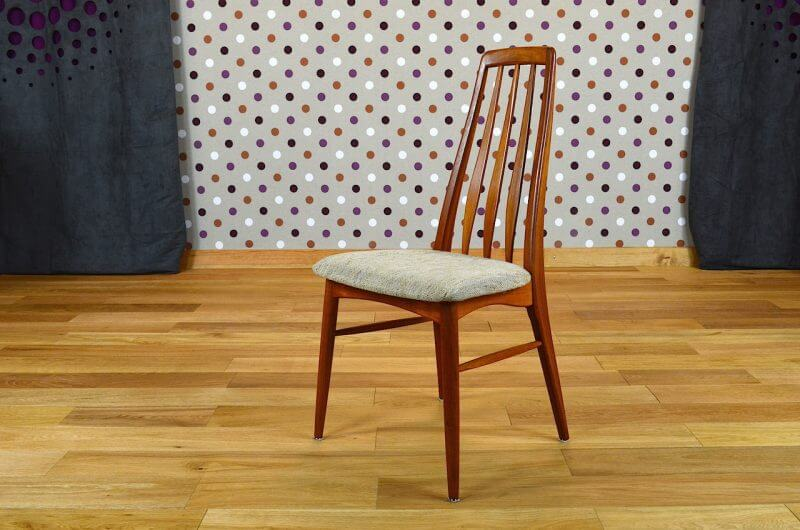 4 chaises danoise en teck niels koefoeds vintage 1965. Black Bedroom Furniture Sets. Home Design Ideas