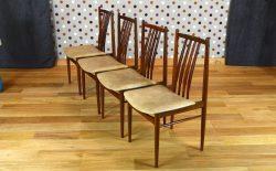4 Chaises Design Scandinave en Teck Vintage 1968