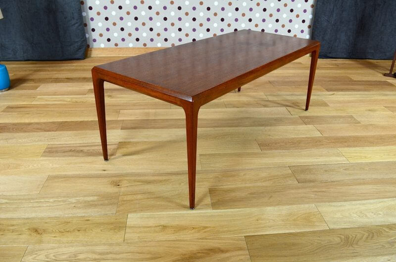 Table basse danoise en teck andersen johannes vintage 1962 for Table basse danoise