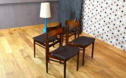 4 Chaises Danoise en Palissandre de Rio Rosengren Hansen Vintage 1964