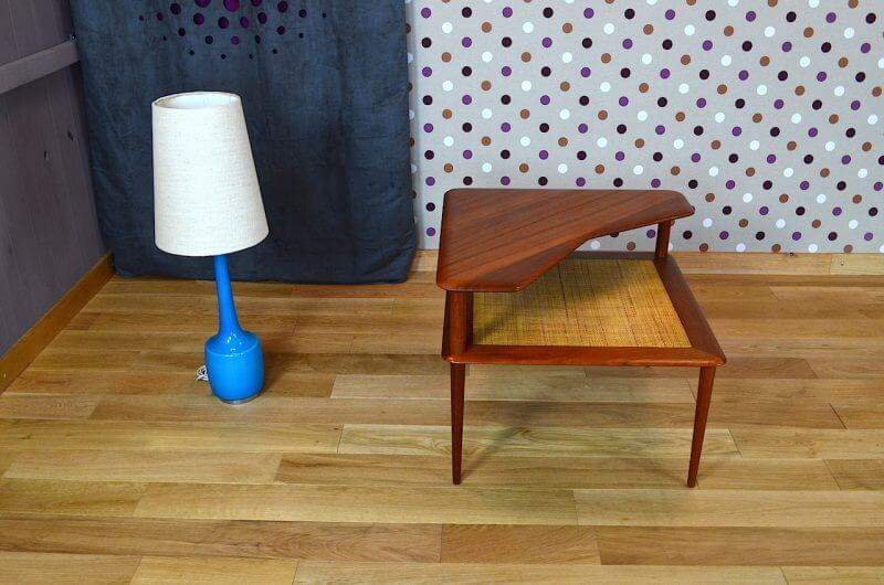 Table basse danoise en teck de peter hvidt vintage 1960 for Table basse danoise