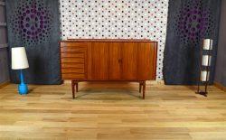 Highboard / Cabinet Danois en Teck Arne Vodder SIBAST Vintage 1958