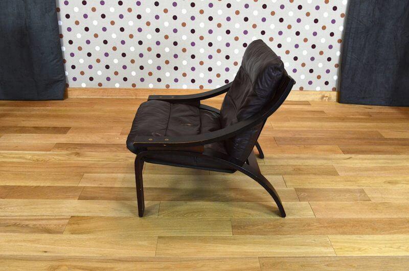 fauteuil relax design scandinave en cuir vintage 1960 1970. Black Bedroom Furniture Sets. Home Design Ideas
