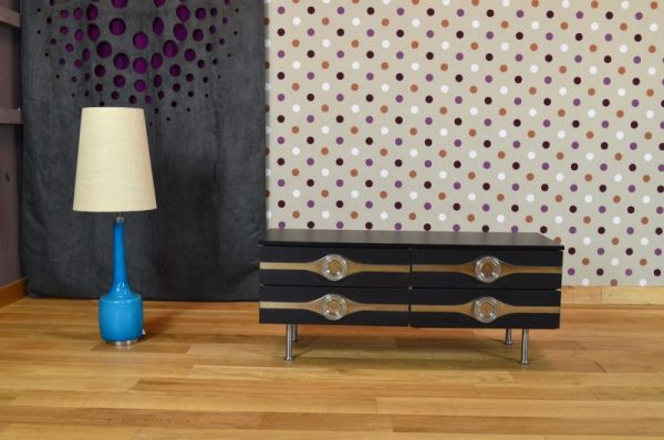 Commode Basse Design Vintage Rétro Année 1970