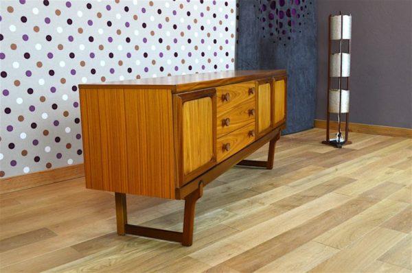 Enfilade Design Scandinave en Teck Blond & Doré Vintage 1968