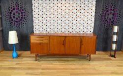 "Enfilade Design Scandinave en Teck ""Swiss Teak"" Vintage 1965"