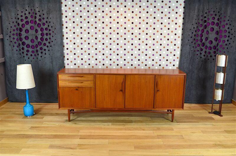 enfilade design scandinave en teck swiss teak vintage 1965. Black Bedroom Furniture Sets. Home Design Ideas
