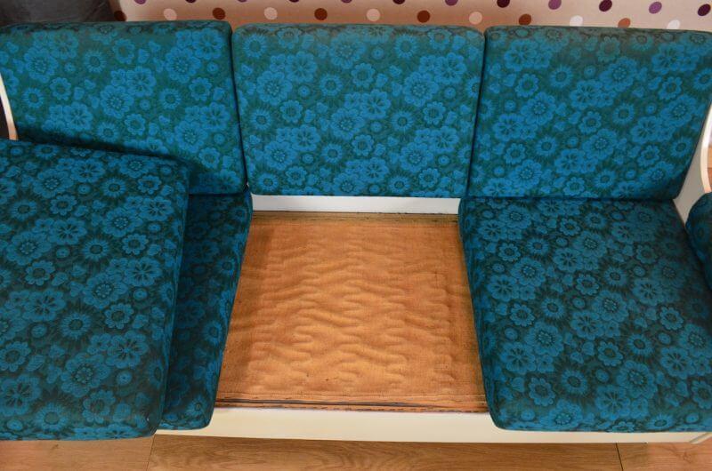 Salon design banquette et fauteuil vintage 1960 a1156 for Fauteuil banquette design