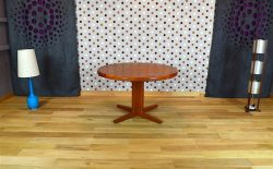 Table Design Scandinave en Teck H. Kjaernulf Vintage 1960