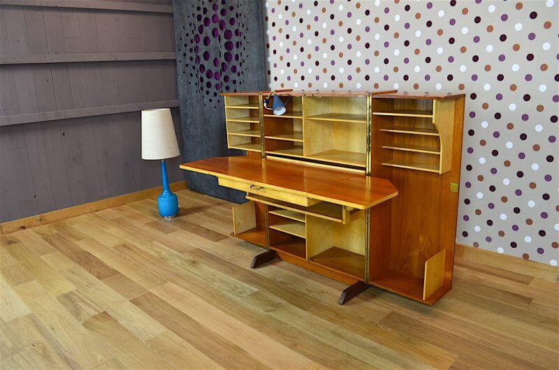 Bureau malle magic box design scandinave vintage 1960 for Meuble bureau 1960