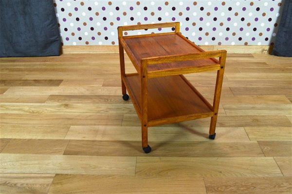 Desserte Design Scandinave en Teck Blond Vintage 1965