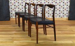 4 Chaises Danoise en Palissandre de Rio de Kai Lyngfeldt Larsen Vintage 1950