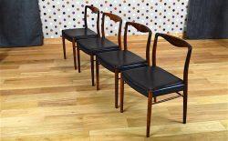 4 Chaises Danoise en Palissandre de Rio de Kai Lyngfeldt Larsen Vintage 1957