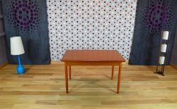 Table Design Scandinave en Teck M. Bloch Vintage 1960