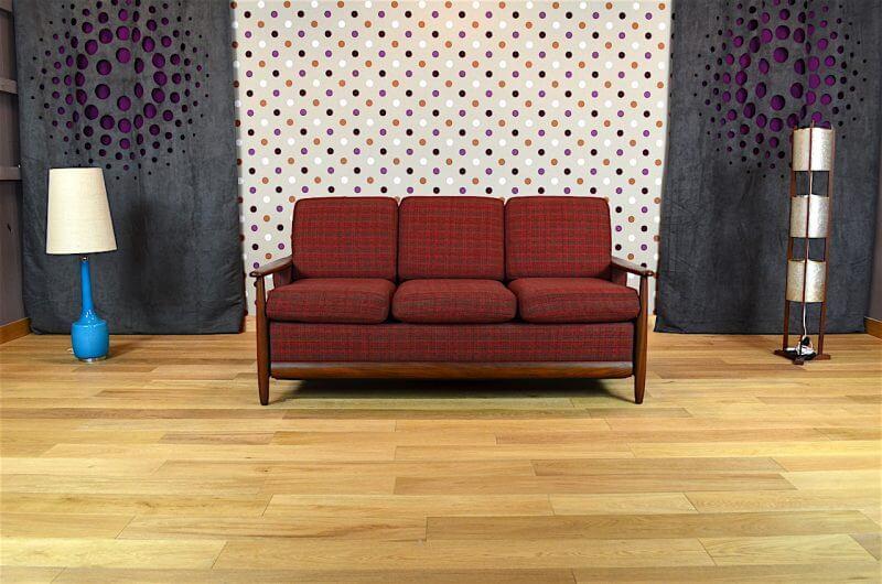 banquette convertible design scandinave en teck vintage 1960 vendu. Black Bedroom Furniture Sets. Home Design Ideas