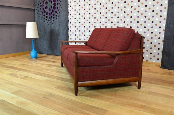 Banquette Convertible Design Scandinave en Teck Vintage 1960