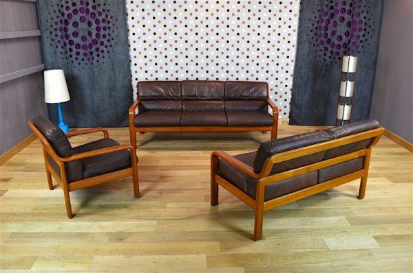 Salon Design Scandinave en Teck Doré Olsen & Son Vintage 1965