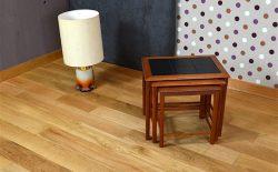 Tables Gigogne Design Scandinave en Teck Vintage 1970