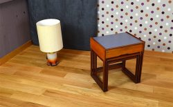 Tables Gigogne Design Scandinave en Teck Vintage 1968