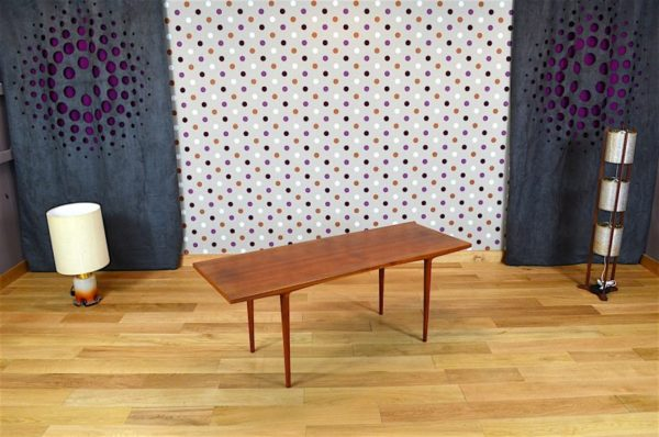 Table Basse Design Scandinave en Teck Vintage 1960